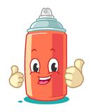 Spray Paint Mascot Cartoon Vector Illustration Thumbs Up Royalty Free Stock Photo