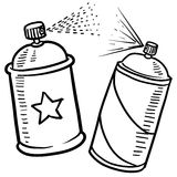 Spray paint sketch. Doodle style spray paint illustration in vector format. Includes text and paint can Royalty Free Stock Photography