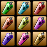 Spray paint. Square icons of spray paint to paint graffiti Royalty Free Stock Image