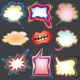 Spray Paint Thought Bubbles Stock Images