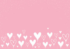 Spray Paint Valentine`s Day Hearts background with copy space. Spray Paint Valentine`s Day Hearts with copy space on pink background Royalty Free Stock Photography