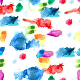 Spray paint watercolor seamless pattern Royalty Free Stock Image