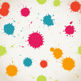 Spray paint watercolor seamless pattern.Copy square to the side Royalty Free Stock Image