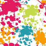 Spray paint watercolor seamless pattern.Copy square to the side Stock Photo