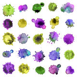 Spray  paint, watercolor splash background,colorful paint drops texture. Watercolor composition for scrapbook elements or pr Royalty Free Stock Images