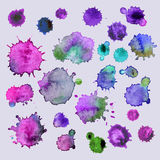 Spray  paint, watercolor splash background,colorful paint drops texture. Watercolor composition for scrapbook elements or pr Royalty Free Stock Photos