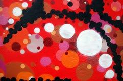 Spray Painted Circles Stock Photo