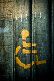 Spray-painted Person in Wheelchair Symbol Stock Photography