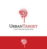 Spray painted target logo concept Royalty Free Stock Photography