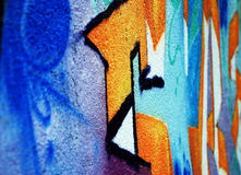 Spray Painted Wall. A wall covered in spray painted graffiti Royalty Free Stock Photos