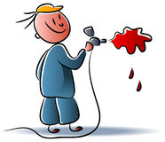 Spray painter Stock Photos