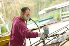 Spray painter Stock Image