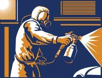Spray Painter Painting Spraying Retro Stock Image