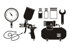 Spray painting equipment - pictogram Royalty Free Stock Image