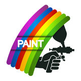 Spray for painting in hand Royalty Free Stock Photo