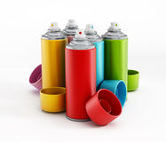 Spray paints Stock Photography