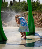 Spray-Park stockfotografie