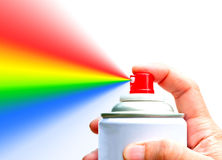 Spray a rainbow Stock Photography