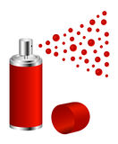 Spray in red design Stock Photography