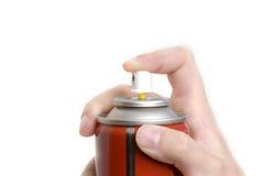 Spray schoss aus Aerosoldose heraus Lizenzfreies Stockfoto