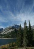Spray Seen und Ziege-Berg Lizenzfreie Stockfotografie