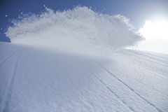 Spray snow, freeride in the mountains Stock Photography