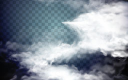 Spray special effect. Foggy spray special effect, transparent background, 3d illustration Stock Image