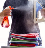 Spray, steam, iron Royalty Free Stock Image