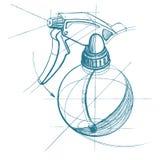 Spray trigger, atomizer, sprayer, pulverizer, air gun. Stock Image