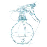 Spray trigger, atomizer, sprayer, pulverizer, air gun. Royalty Free Stock Image