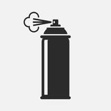 Spray. Vector icon isolated on grey background royalty free illustration