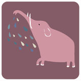 Spray. Vector illustration of funny elephant spray water....so cute Stock Image