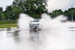 Spray vom Auto Lizenzfreie Stockfotografie