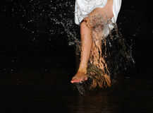 The spray of water Royalty Free Stock Photography