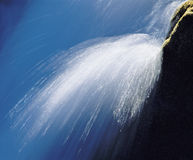 Spray from waterfall close-up Royalty Free Stock Image