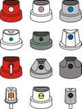 Spraycan caps Royalty Free Stock Image