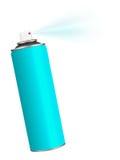 Spraydose - Blau auf Weiß Stockfoto