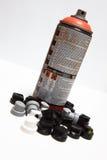Spraydosen und -schablone Lizenzfreies Stockbild