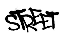 Sprayed street font graffiti with overspray in black over white. Vector illustration. Sprayed street font graffiti with overspray in black over white. Vector vector illustration