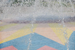 Sprayed water  from the fountain Royalty Free Stock Photography