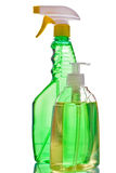 Sprayer bottle and liquid soap Stock Images