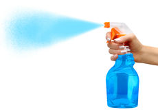 Sprayer in female hand Royalty Free Stock Images