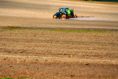 Sprayer on a field Royalty Free Stock Images