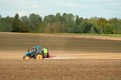 Sprayer on a field Royalty Free Stock Photography