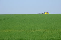 Sprayer in field in Val d Oise Stock Photography