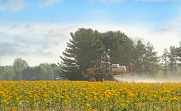 Spraying Agricultural Chemical Stock Photo