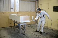 Spraying the coffin Stock Photography