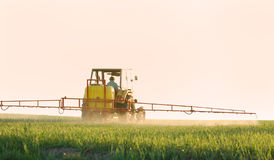 Spraying the Crop Royalty Free Stock Photography