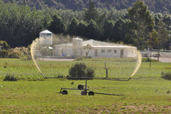 Spraying effluent Stock Image
