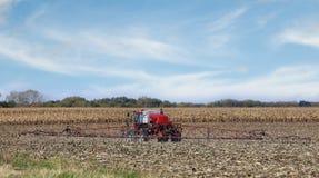 Spraying Farm Field Stock Photography